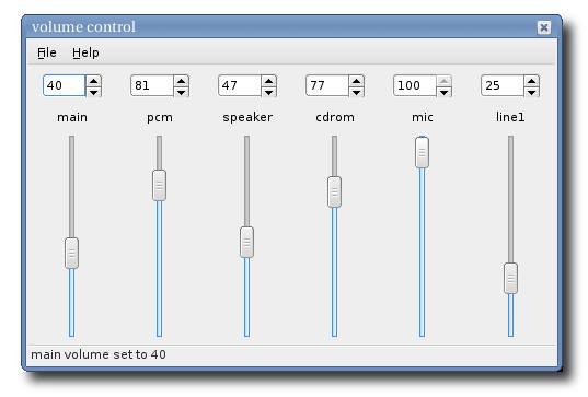 Volume Control at sourceforge net
